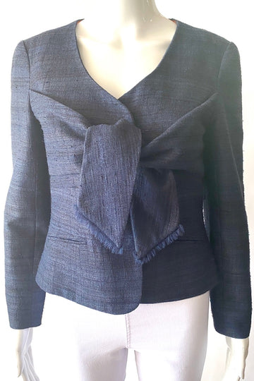 Lee Anderson Couture Silk Shantung Sash Blazer | XS/S