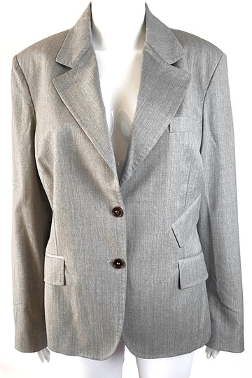 Kuhlman Pickstitch Grey Wool Blazer | New | M/L