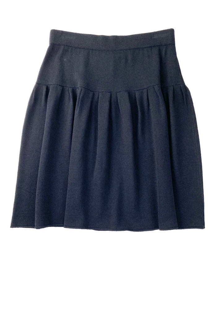 St John Collection Black Fit and Gathered Skirt | 8