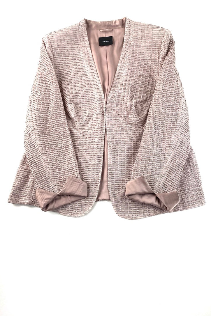 Akris Mauve and Dark Grey Textured Blazer  | 16
