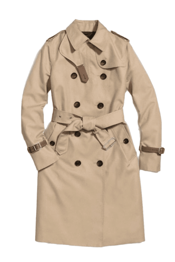 Coach Icon Trench Coat Leather Trim | New | 8