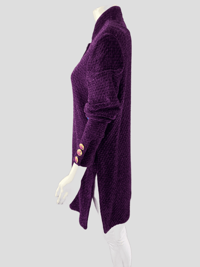 St John Collection Long Chenille Purple Reign Blazer  | 10