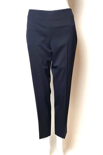 Jil Sander Deep Navy/Black Wool Narrow Leg Pants | S