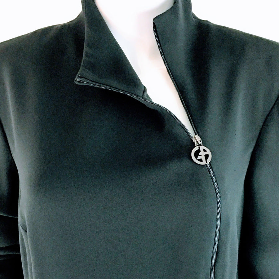 Giorgio Armani Logo Zip Dress | IT 46 US 10