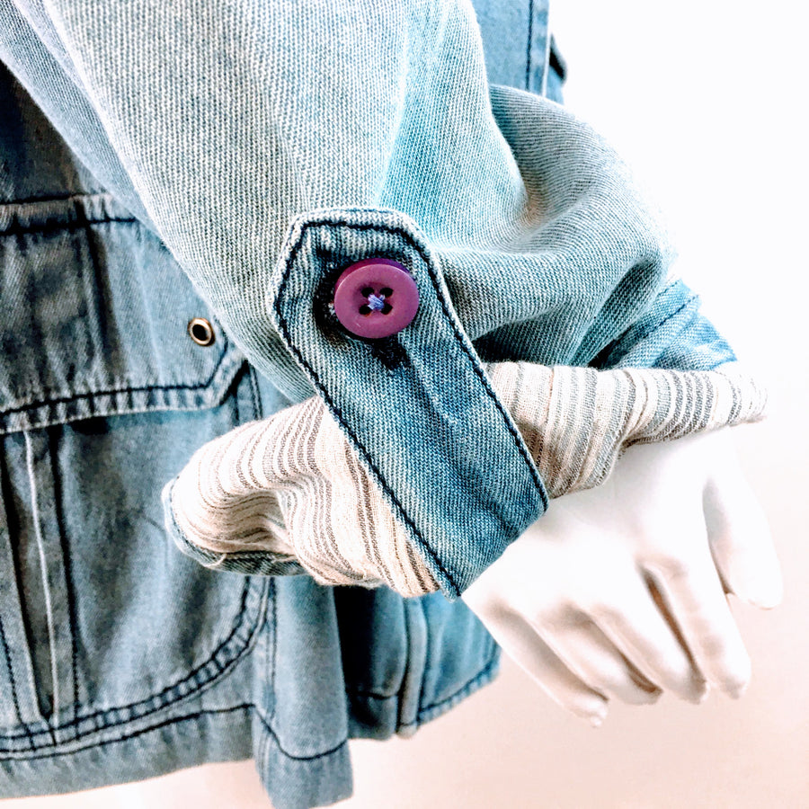 Kayla Seo Chambray Denim Jacket NWT | L