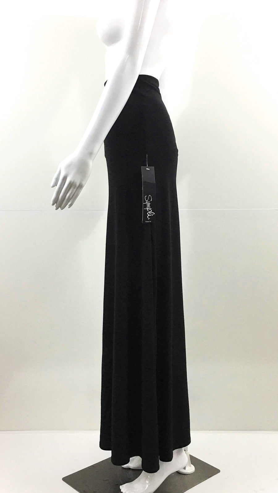 Sympli Black Maxi Skirt Tube Dress | 14