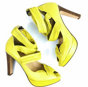 J Crew Collection Citron Strappy Platform Sandals | 8.5