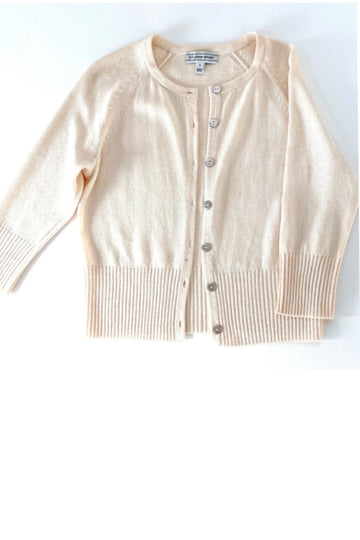 St John Sport Ivory Cardigan Silver Buttons | P