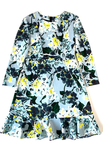 Erdem Floral Print Ruffle Skirt Judy Dress | US 10