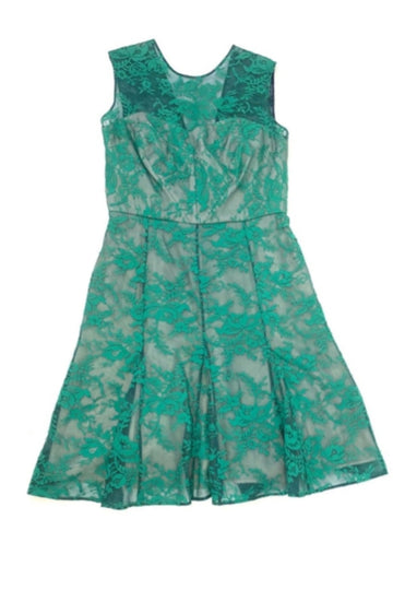 Red Carpet Ready | Erdem Emerald Lace Fit + Flare Dress | 12
