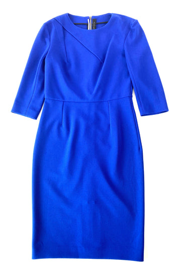 Roland Mouret Midi Length Cobalt Scuba Dress | US 12