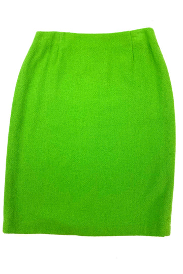 Escada Neon Green Pencil Skirt | 40 | NEW