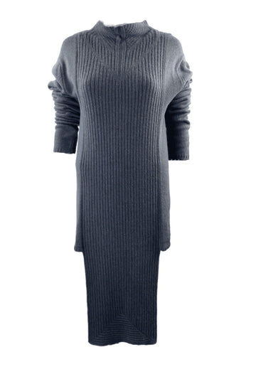 Iconic Rick Owens A/W 2010 DRKSHDW Gleam Concrete Sweater Tunic Dress | M