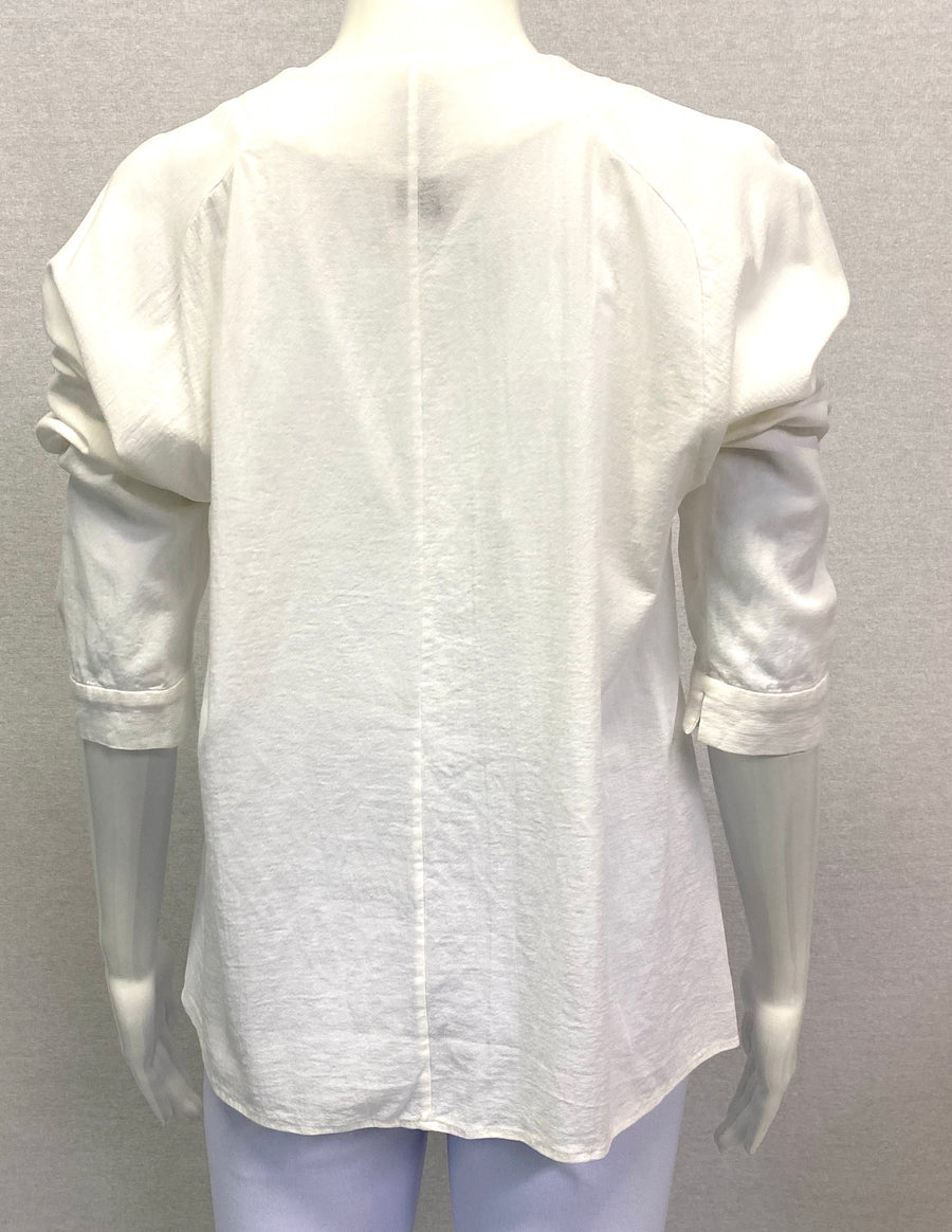 Zero + Maria Cornejo White Blouse Top | 8