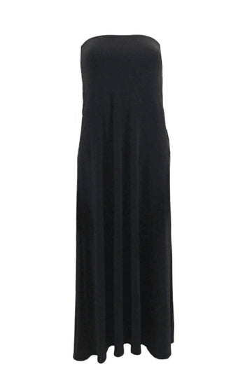 Sympli Black Maxi Skirt Tube Dress | 14 | NEW