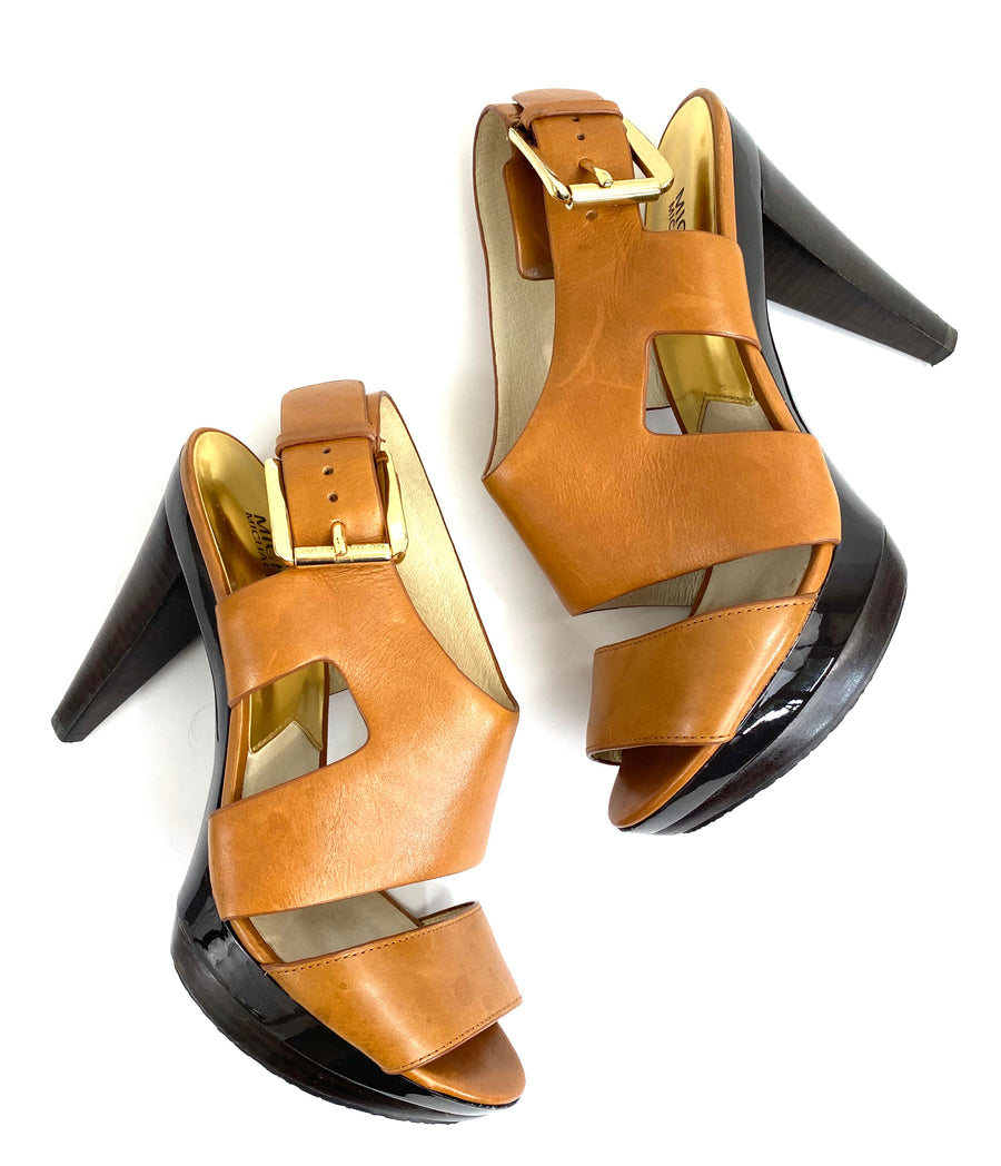 Michael Kors English Tan Platform Sandals | 8.5M