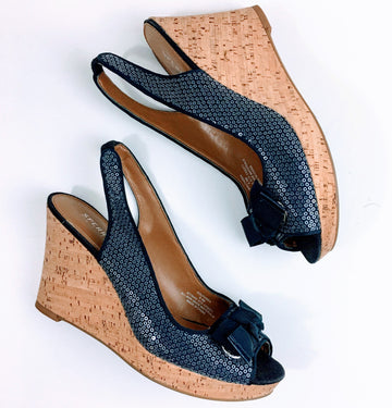 Sperry Sequin Embellished Cork Wedges | 8.5