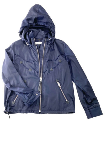 Coach Navy Western Hoodie Jacket | New | S/M
