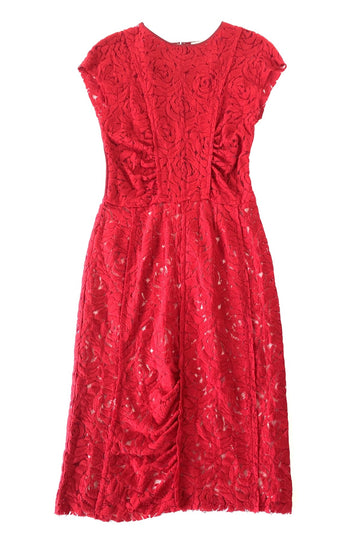 Nina Ricci Stretch Red Lace Dress | 42