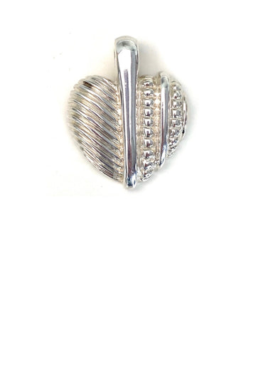 Judith Ripka Sterling Silver Heart Pendant Enhancer