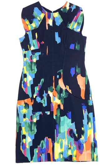 Lela Rose Abstract Watercolor Shift Dress | 10