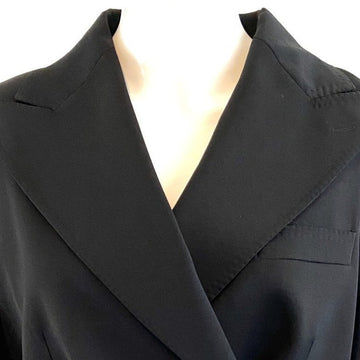 Dolce & Gabbana Black Crop Double Breasted Jacket | IT 40 US 4/6