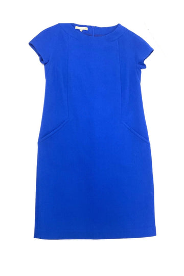 Michael Kors Cobalt Blue Virgin Wool Shift Dress | 10