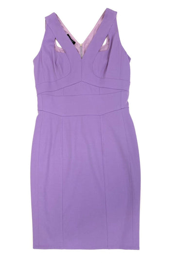 Narciso Rodriguez Peek-a-Boo Lavender Scuba Dress | IT 46