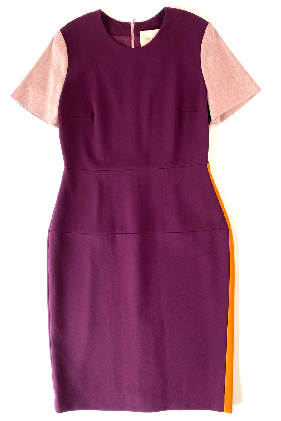 Roksanda Color Block Midi Dress | US 14