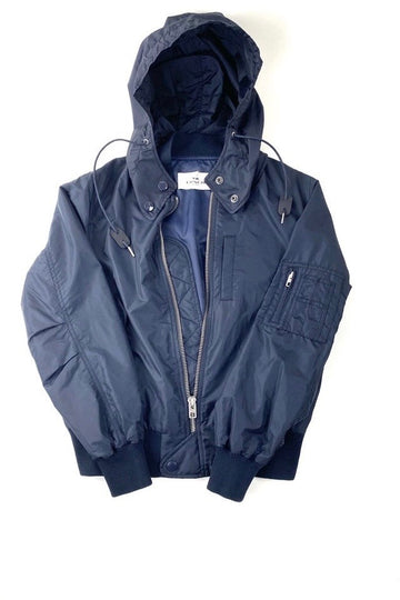 Coach Navy Utility Windbreaker Detachable Hood | New | S