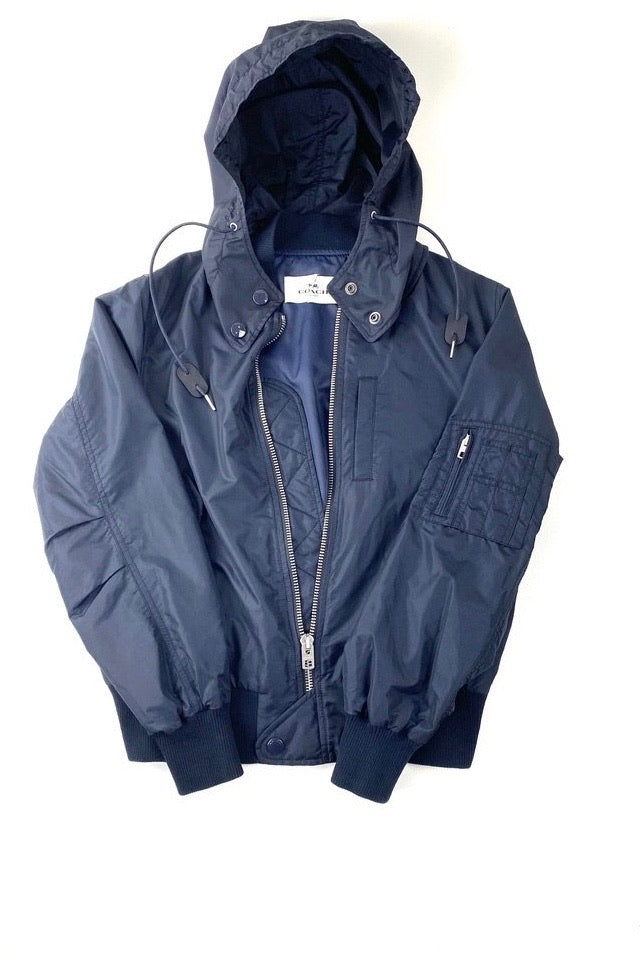 Coach Navy Utility Windbreaker Detachable Hood | S | NEW