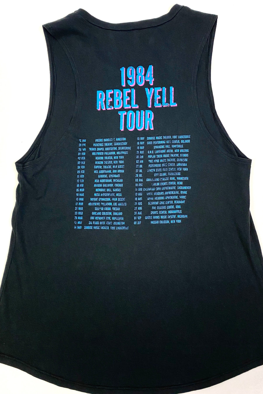 Eyes Without A Face | Billy Idol 1984 Concert Tank | M