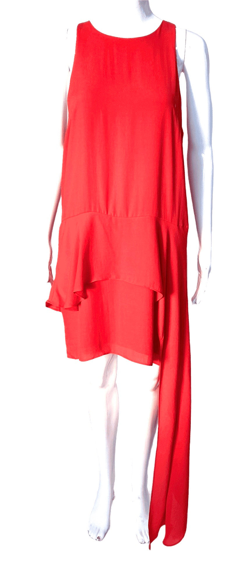 Strut & Bolt Tangerine Mini Dress with Train | Tunic Top | M