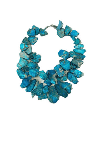 Turquoise Howlite Statement Necklace