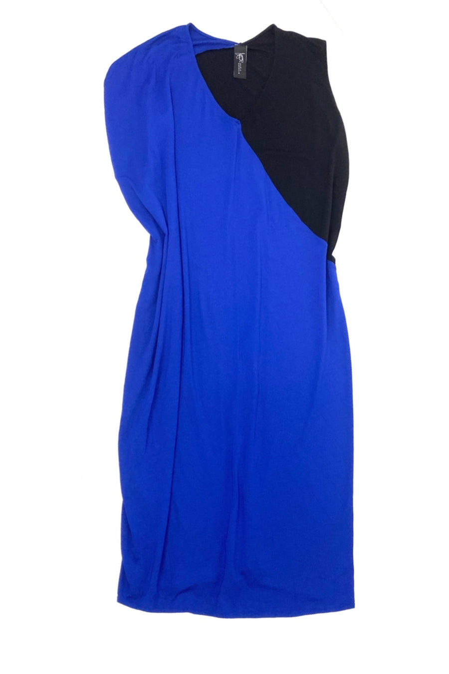 Zero + Maria Cornejo Cobalt Black Jersey Dress | M/L