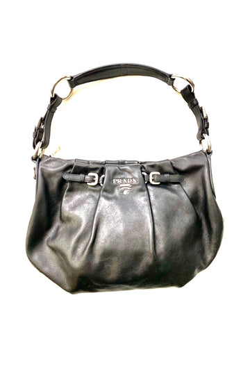 Prada Pillowy Tufted Black Napa Handbag