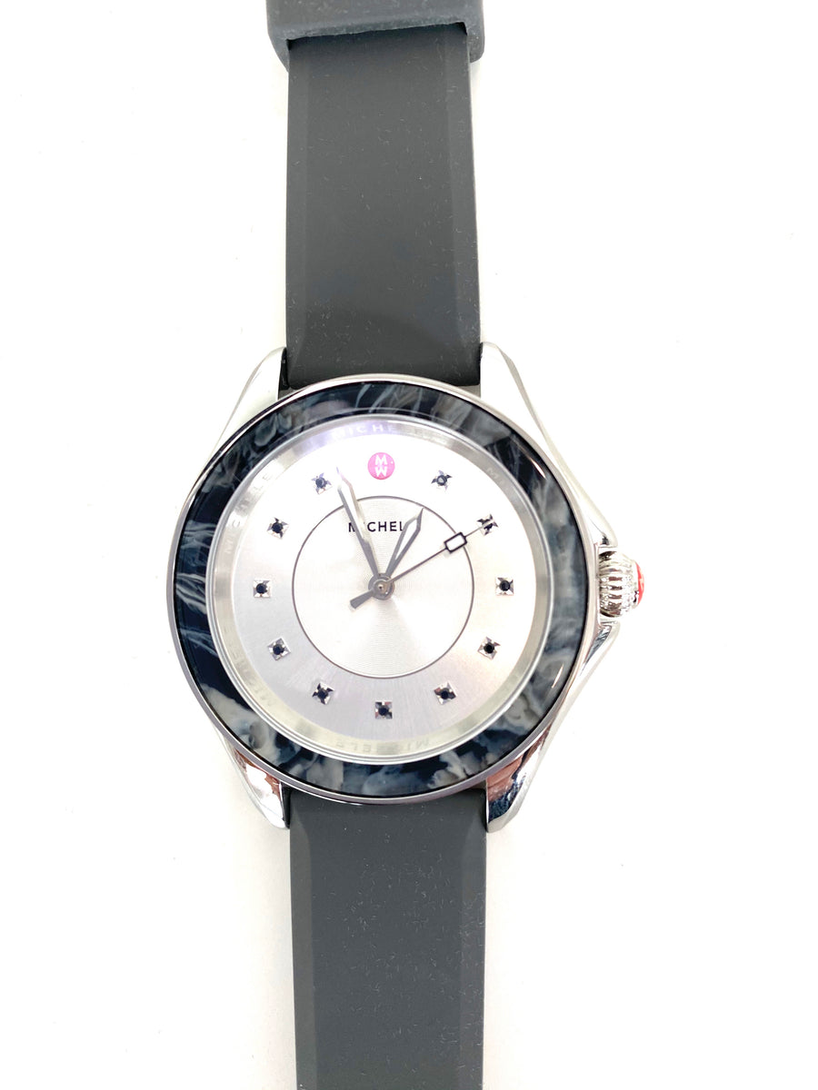 Michele Cape Grey | Mist Topaz Dial Watch | NEW