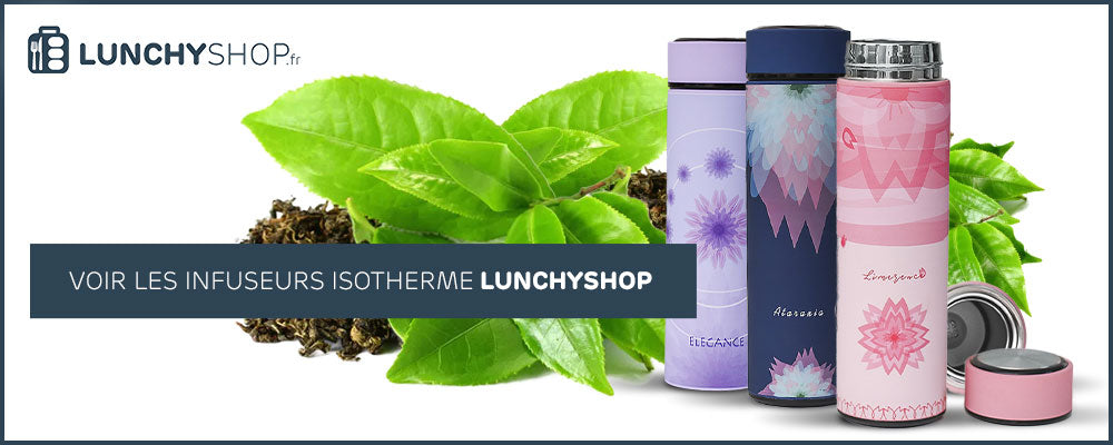 Bouteille isotherme infuseur lunchyshop