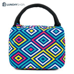 lunch bag Sac Isotherme electro fun motifs colorés, logo lunchyshop