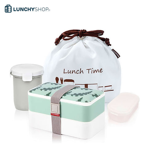 lunch box tropicale bento kit vert