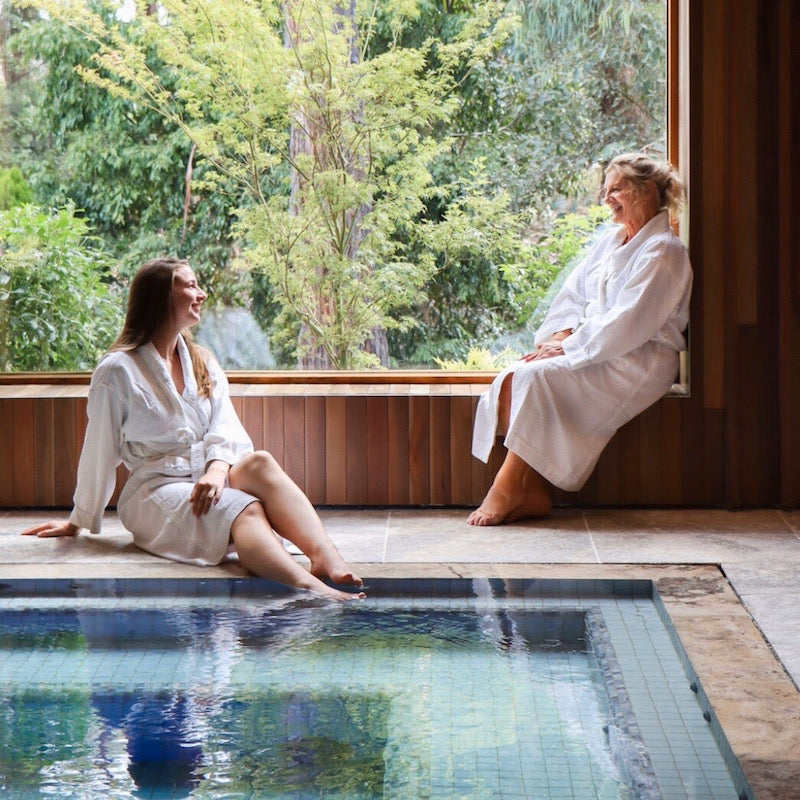 Two women in robes at relaxing at Ballarat Sanctuary Day Spa