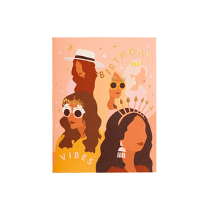 Birthday Vibes Greeting Card