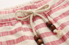 Red Striped Linen Shorts