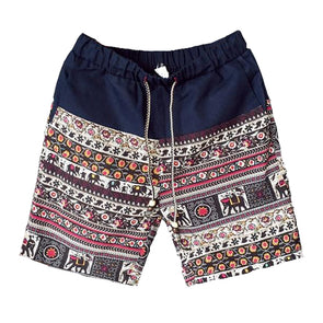 Ancient Patterned Linen Lounge Shorts