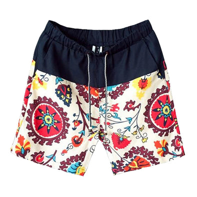 Hawaiian Sunrise Linen Lounge Shorts