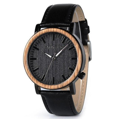 Black Pearl Leather-Strapped Watch