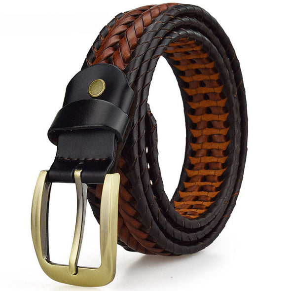 Classic Braided Leather Belt