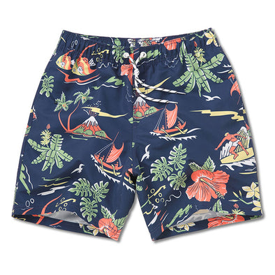 Volcanic Island Swim Trunks