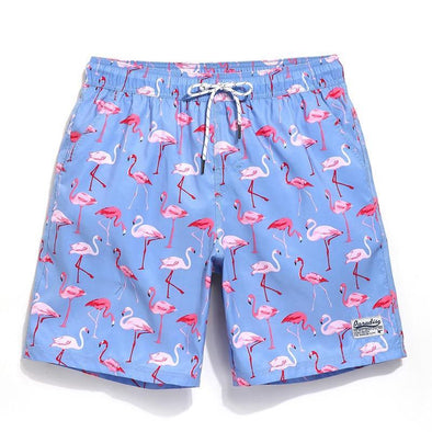 Fanciful Flamingo Swim Trunks