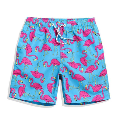 Flamingo Fiesta Swim Trunks